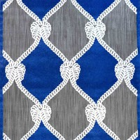 nuLOOM Machine Made Nautical Ropes Outdoor Adrian Blue Rug