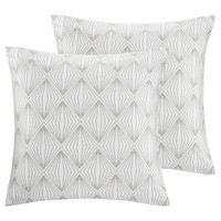 Kiara Metallic Faux Fur Silk Dec Pillow Pair