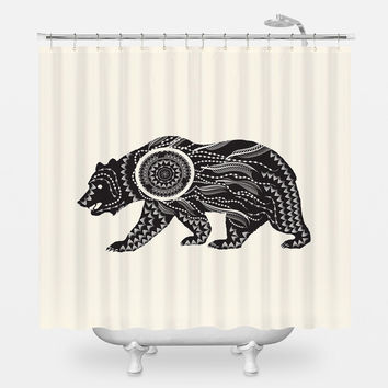 Ornate Bear Shower Curtain