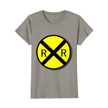 Railroad Crossing Sign Simple Easy Halloween Costume T-Shirt