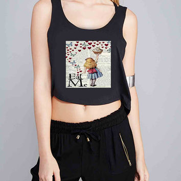Alice in Wonderland Madhatter Chershire Cat for Crop Tank Girls S, M, L, XL, XXL *IP*