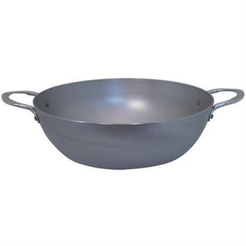 de Buyer Mineral B Element Steel Deep Country Pan with Two Handles 12.8-in