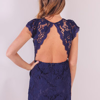 Fallin' For You Dress - Navy