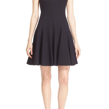 kate spade pleated ponte fit & flare dress