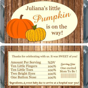 10 Fall Baby Shower Chocolate Bar Wrappers