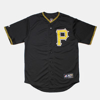 Majestic Pittsburgh Pirates Baseball Shirt - Black at Urban Industry