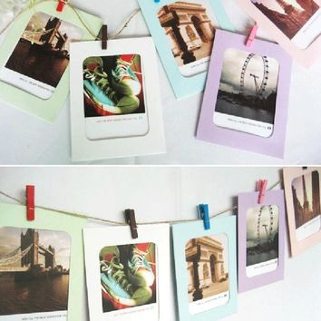 New Qualified 6 Inch Creative Gift DIY Wall Hanging Paper Photo Frame Wall Picture Album  Levert Dropship dig6829
