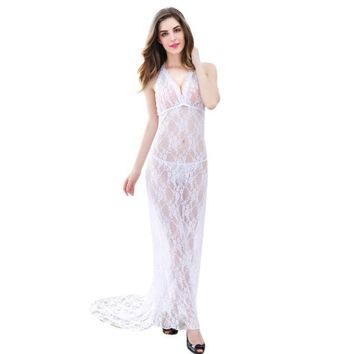Female Temptation Transparent Lace Nightgown Underwear