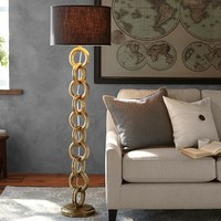 INTERLACED GOLD CHAIN FLOOR LAMP BASE
