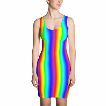 Rainbow Dress - Rainbow Pattern Dress - Spring Dress - Colorful Dress - Summer Dress