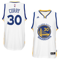 Men's Golden State Warriors Stephen Curry adidas White Player Swingman Home Jersey