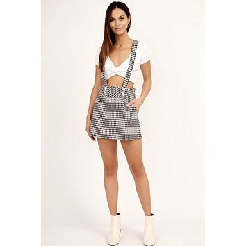 Gingham Overall Dress