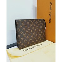 LV Louis Vuitton Hot Sale Monogram Business Handbag Tote Makeup Bag Clutch Bag I/A