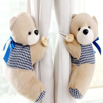 1pair Korean cute curtains curtain Strap lovely cartoon bear curtain's clip buckle curtain tieback home decoration gift