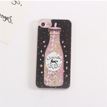 Unicorn Water Dynamic Glitter Case for iPhone 6/6s/6plus/7 etc.