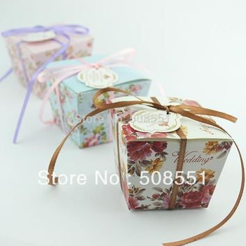 Paper  Wedding  Candy  Favor  Boxes  Chocolate
