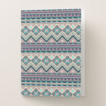 Colorful Aztec Tribal Pattern Pocket Folder