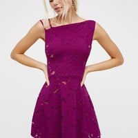 Free People Asymmetric Lace Fit & Flare