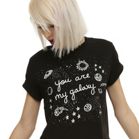 You Are My Galaxy Girls Crop Top