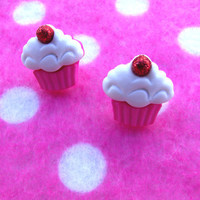 Yummy Cupcake Sprinkle Post Earrings
