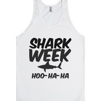 Shark Week-Unisex White Tank