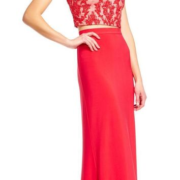 Adrianna Papell - AP1E201024 Two-Piece Beaded Sheath Gown