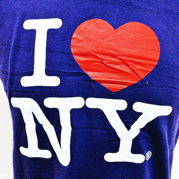 I LOVE NEW YORK Post Punk T-Shirt XS-S