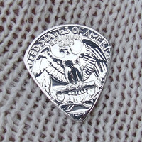 Custom Coin Guitar Pick - Handmade with a Vintage 1957 Silver Quarter Proof Coin