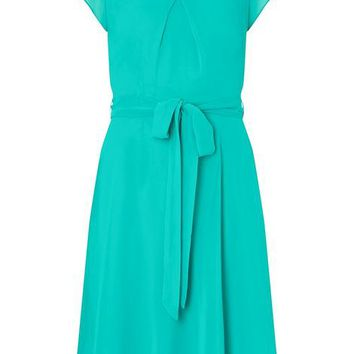**Billie & Blossom Tall Lagoon Chiffon Skater Dress | Dorothyperkins