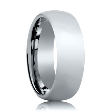 Aydins Tungsten Wedding Ring Shiny Polished Center Domed 4mm, 6mm, 8mm Tungsten Carbide Band