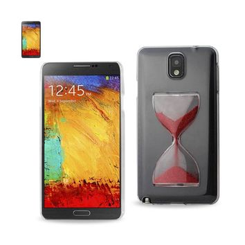 Reiko REIKO SAMSUNG GALAXY NOTE 3 3D SAND CLOCK CLEAR CASE IN RED