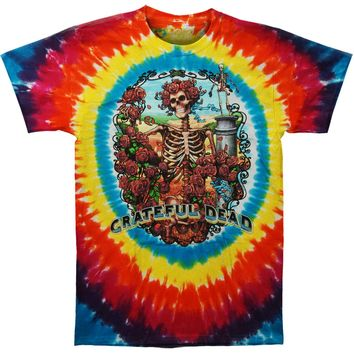 Grateful Dead Men's  Rainbow Bertha Tie Dye T-shirt Multi