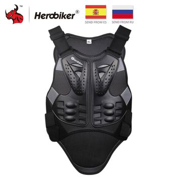 HEROBIKER Motocross Racing Armor Motorcycle Riding Body Protection Jacket With A Reflecting Strip Moto Armor Protective Gear