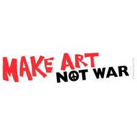 Make Art Not War Bumper Sticker on Sale for $2.99 at HippieShop.com