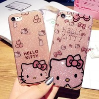 Glitter Crystal hello Kitty iPhone Cover