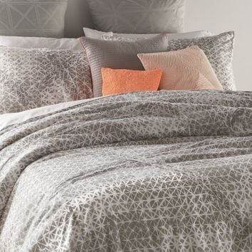 DKNY Gridlock Comforter Set in Grey