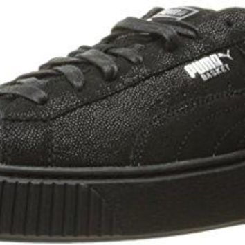 PUMA Women's Basket Platform Reset Fashion Sneaker