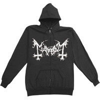 Mayhem Men's  De Mysteriis Dom Zippered Hooded Sweatshirt Black Rockabilia