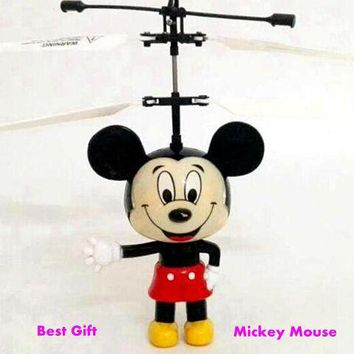 MJDTOYS X63 Funny Mouse Induction Fly Toys Remote Control RC Helicopter Flying Quadcopter Drone Kids Toy Fairy Doll Best Gifts