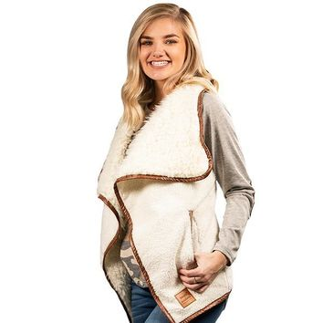 Sherpa Cream - VEST - F19 - Simply Southern