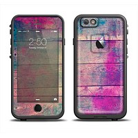 The Pink & Blue Grunge Wood Planks Apple iPhone 6 LifeProof Fre Case Skin Set