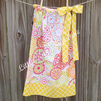 Bright Fun Print Infant/Toddler/Little Girl Pillowcase Dress