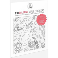 100 Wall Removable Reusable Stickers - Coloring