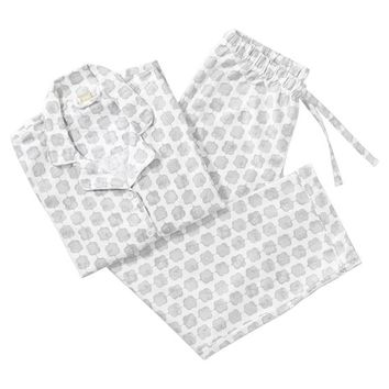 Garland Geo Pajama Set, Light Gray