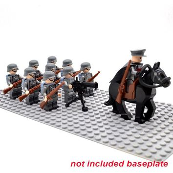 WW2 army Soldiers Troop Military German Russia US UK Soviet Union Italy France Japan block  Building Toys