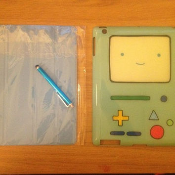 Adventure Time Beemo BMO B-MO new iPad/ iPad 2 Case With Magnetic Smart Cover and Stylus