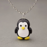 Penguin Necklace - Cute Animal Pendant Necklace - For Kids Teens Adult Women