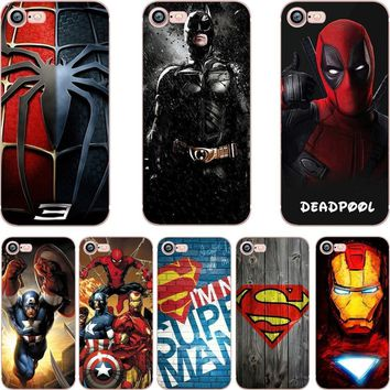 Deadpool Dead pool Taco ciciber phone cases DC Batman Superman  Marvel Iron Man TPU soft silicone cover Case for iphone 6 6S 7 8 plus 5S SE X AT_70_6