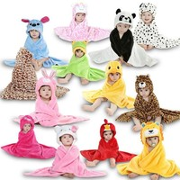 Hooded Animal  Baby Bathrobe/towel