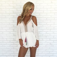 In the Jungle Romper in White